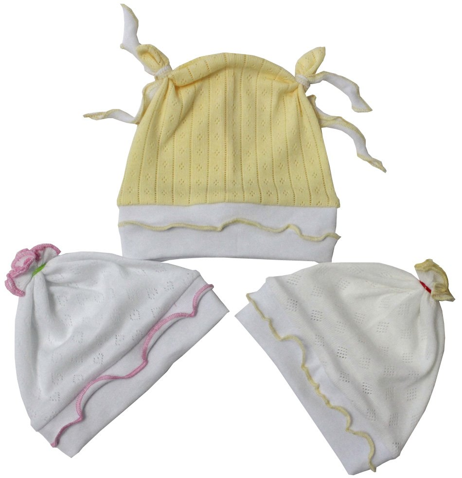 Шапочка детская КрошкаЧепчики, шапочки<br><br><br>Размер: Белый с розовой отделкой