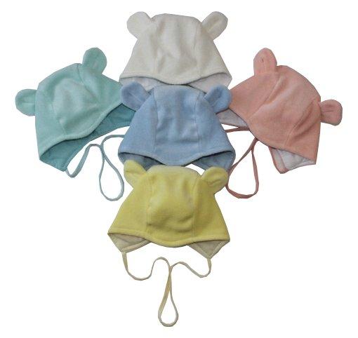 Шапочка детская Пушистик с завязкамиЧепчики, шапочки<br><br><br>Размер: 38