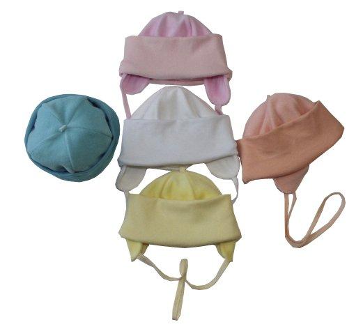 Шапочка детская Симпатяжка с завязкамиЧепчики, шапочки<br><br><br>Размер: Розовый
