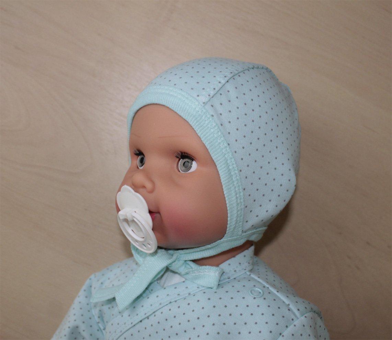 Шапочка детская Соня с завязкамиЧепчики, шапочки<br><br><br>Размер: Розовый