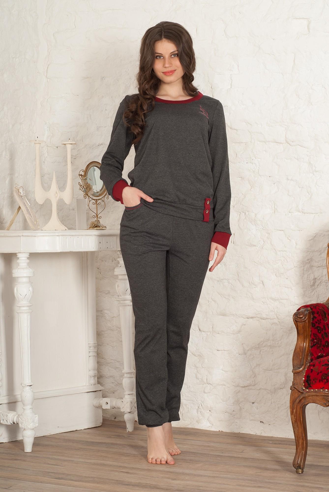 Костюм женский Шарк блуза и брюкиКоллекция ОСЕНЬ-ЗИМА<br><br><br>Размер: 48