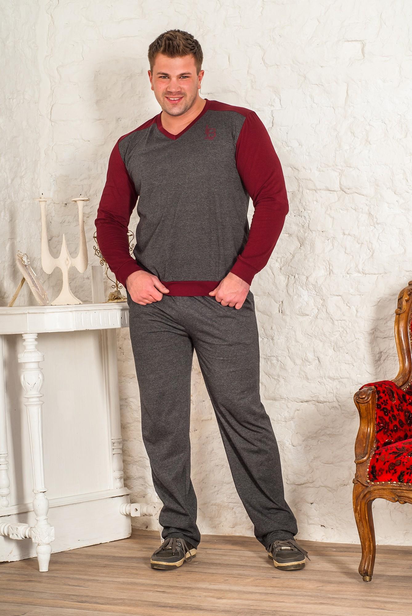Костюм мужской Шаркскин пуловер и брюкиКоллекция ОСЕНЬ-ЗИМА<br><br><br>Размер: 54