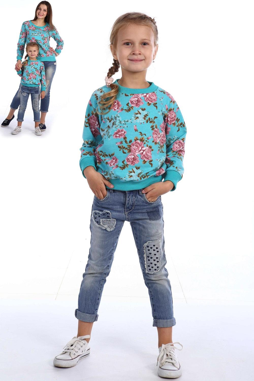 Толстовка детская Сокровище для девочкиКоллекция ОСЕНЬ-ЗИМА<br><br><br>Размер: Бирюзовый