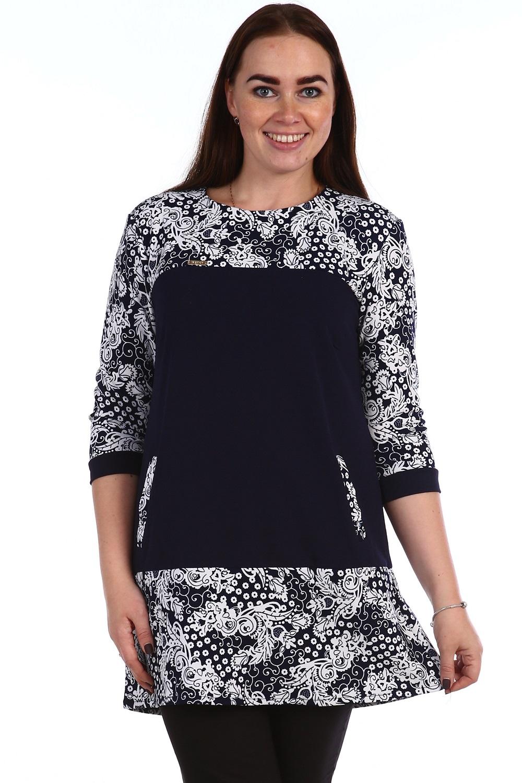 Туника женская Устинья с карманамиТуники, рубашки и блузы<br><br><br>Размер: 60