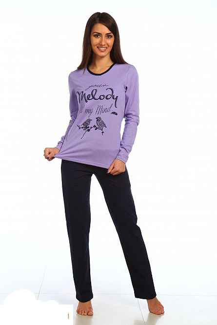 Комплект женский Мелодия блуза и брюкиДомашние комплекты, костюмы<br><br><br>Размер: 42