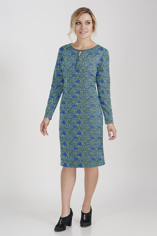 Платье женское Краски осениПлатья<br><br><br>Размер: Зеленое