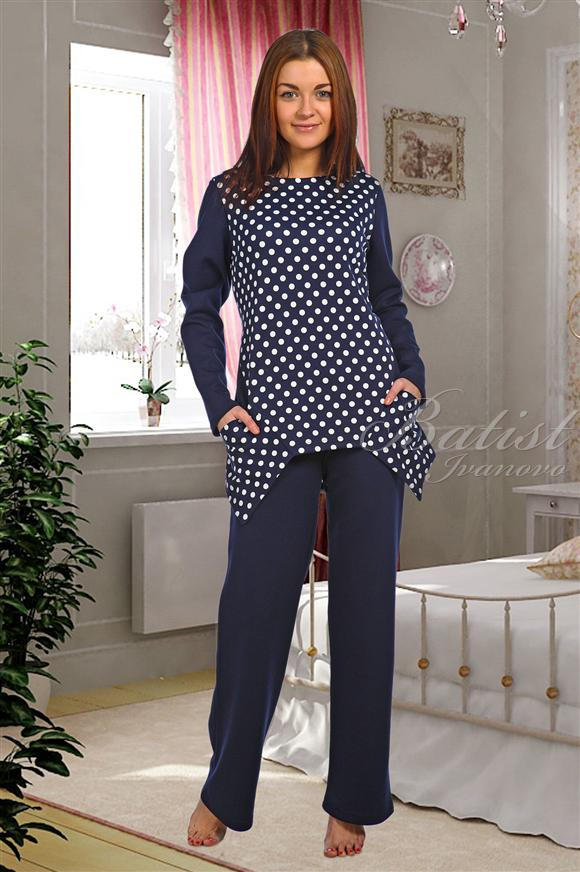 Костюм женский Астра блуза и брюкиКоллекция ОСЕНЬ-ЗИМА<br><br><br>Размер: 48