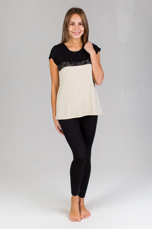 Комплект женский Сабрина туника и лосиныДомашняя одежда<br><br><br>Размер: 48