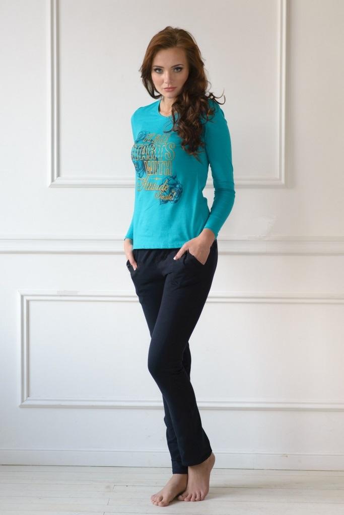 Комплект женский Италия блуза и брюкиКоллекция ОСЕНЬ-ЗИМА<br><br><br>Размер: 46
