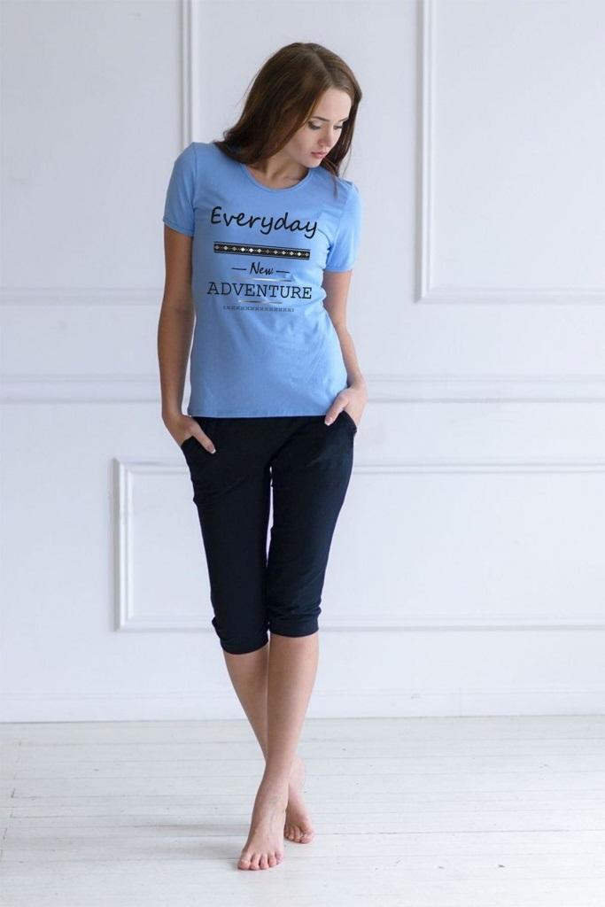 Комплект женский Everyday футболка и бриджиДомашняя одежда<br><br><br>Размер: 52