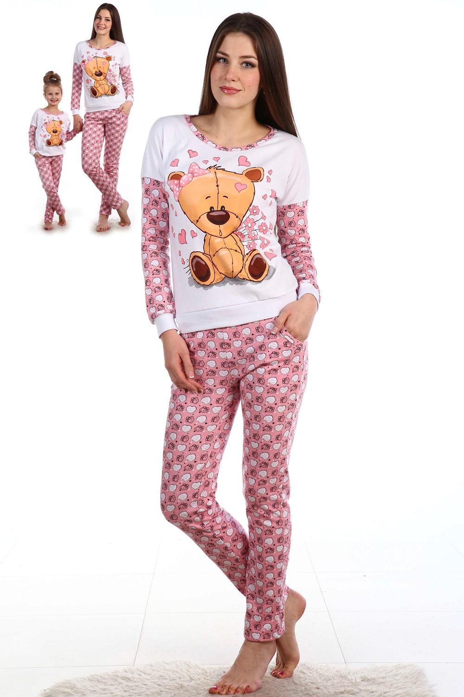 Костюм домашний женский Косолапый блуза и брюкиКоллекция ОСЕНЬ-ЗИМА<br><br><br>Размер: 44