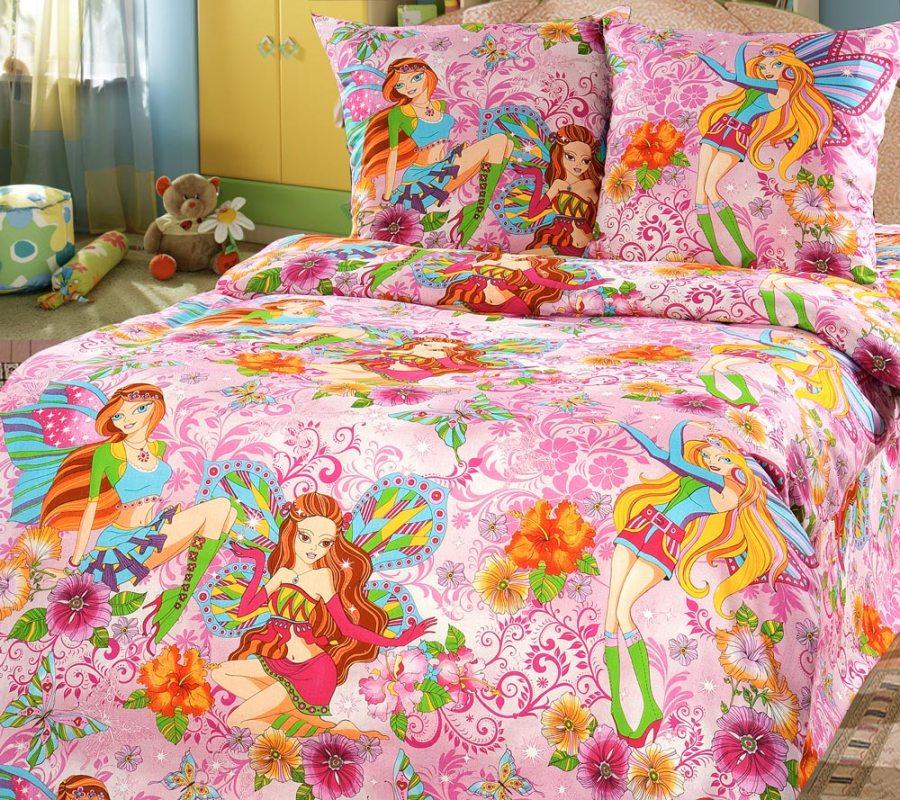 Комплект постельного белья Добрые феи 1 из бязиДетское постельное белье<br><br><br>Размер: 1.5сп (2 нав.70х70)