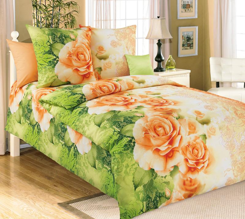 Комплект постельного белья Эстель 1 из бязиБязь<br><br><br>Размер: 1.5сп (2 нав.70х70)