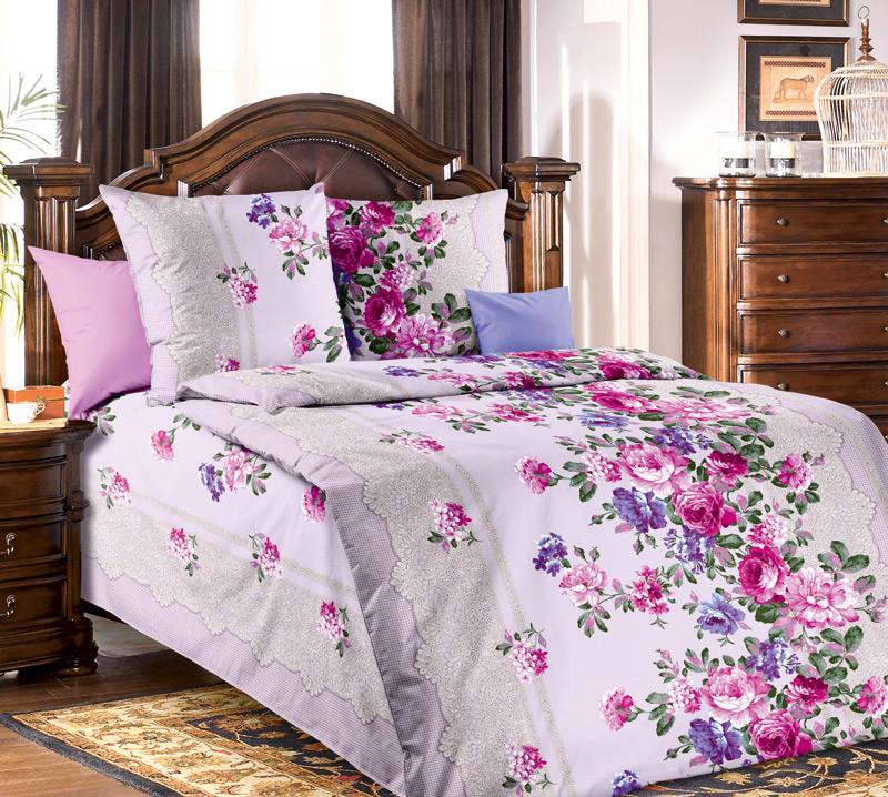 Комплект постельного белья Кружевница 2 из бязиБязь<br><br><br>Размер: 1.5сп (2 нав.70х70)