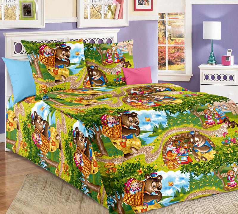Комплект постельного белья Машенька из бязиДетское постельное белье<br><br><br>Размер: 1.5сп (2 нав.70х70)