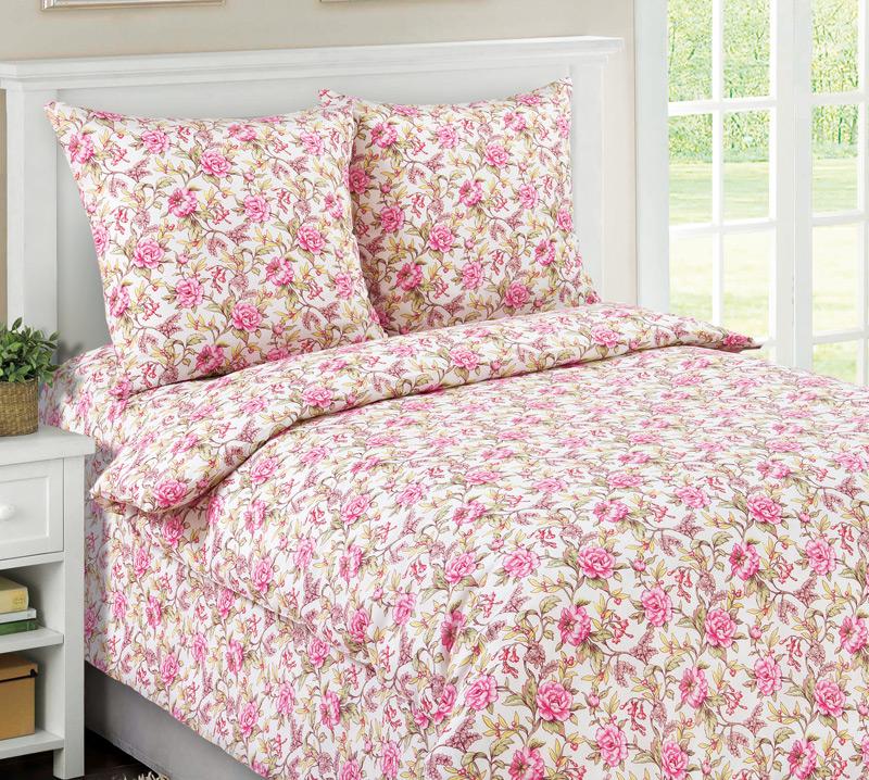 Комплект постельного белья Моника 2 из бязиБязь<br><br><br>Размер: 1.5сп (2 нав.70х70)