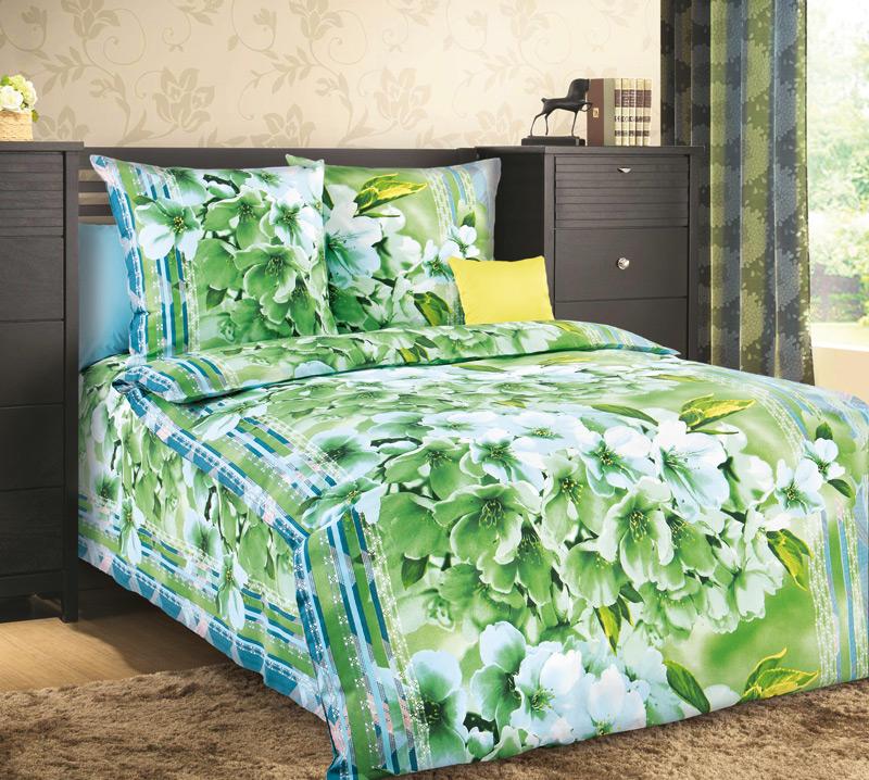 Комплект постельного белья Свежесть 1 из бязиБязь<br><br><br>Размер: 1.5сп (2 нав.70х70)
