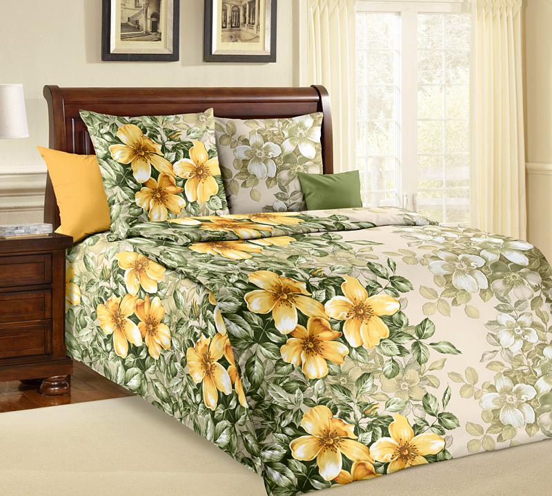 Комплект постельного белья Жасмин 1 из бязиБязь<br><br><br>Размер: 1.5сп (2 нав.70х70)