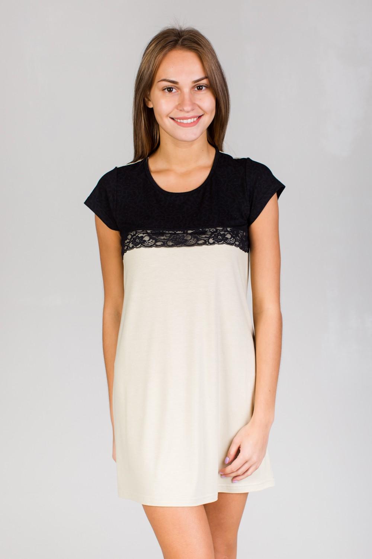 Ночная сорочка женская Сабрина с коротким рукавомДомашняя одежда<br><br><br>Размер: 46