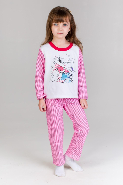Пижама детская Сказка для девочкиКоллекция ОСЕНЬ-ЗИМА<br><br><br>Размер: Розовый