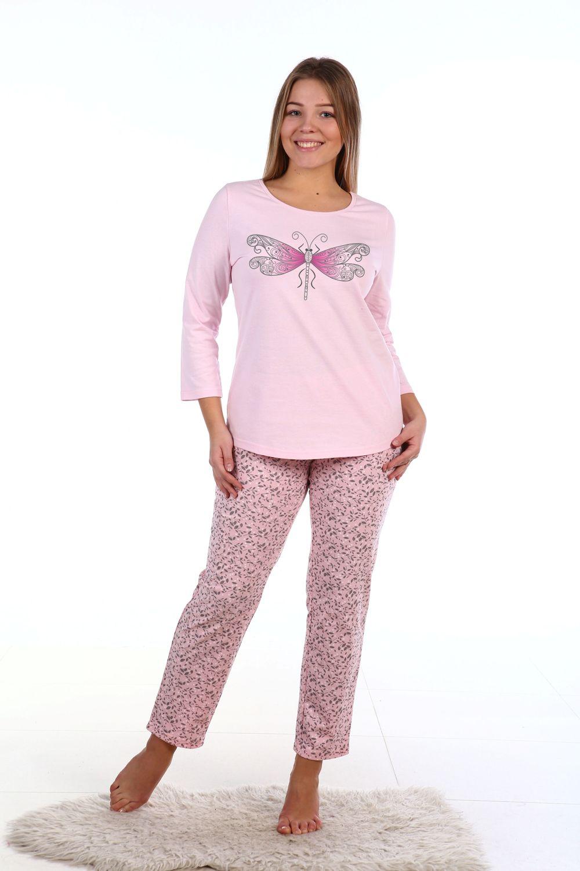 Пижама женская Стрекоза футболка и брюкиКоллекция ОСЕНЬ-ЗИМА<br><br><br>Размер: 44