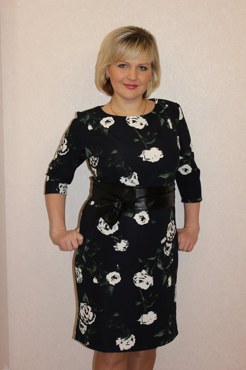 Платье женское Брабант с круглым вырезомКоллекция ОСЕНЬ-ЗИМА<br><br><br>Размер: 58