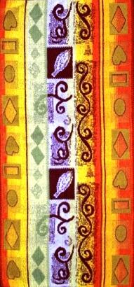 Полотенце махровое жаккардовое Осенняя фантазияДля всей семьи<br><br><br>Размер: 50х100 см