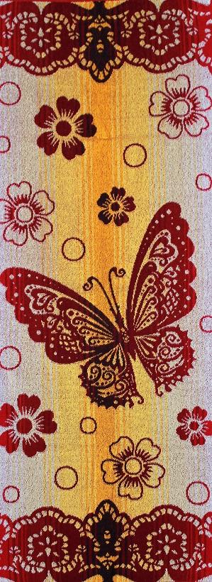 Полотенце  махровое жаккардовое Бабочка с кружевомПодарки к 8 марта<br><br><br>Размер: 50х120 см