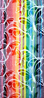 Полотенце махровое жаккардовое РазноцветьеПодарки на День рождения<br><br><br>Размер: Бабочки-2