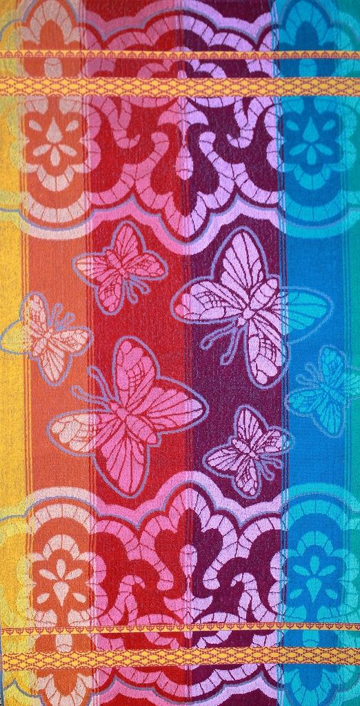 Полотенце махровое жаккардовое Бабочки банноеПодарки на День рождения<br><br><br>Размер: 70х140 см