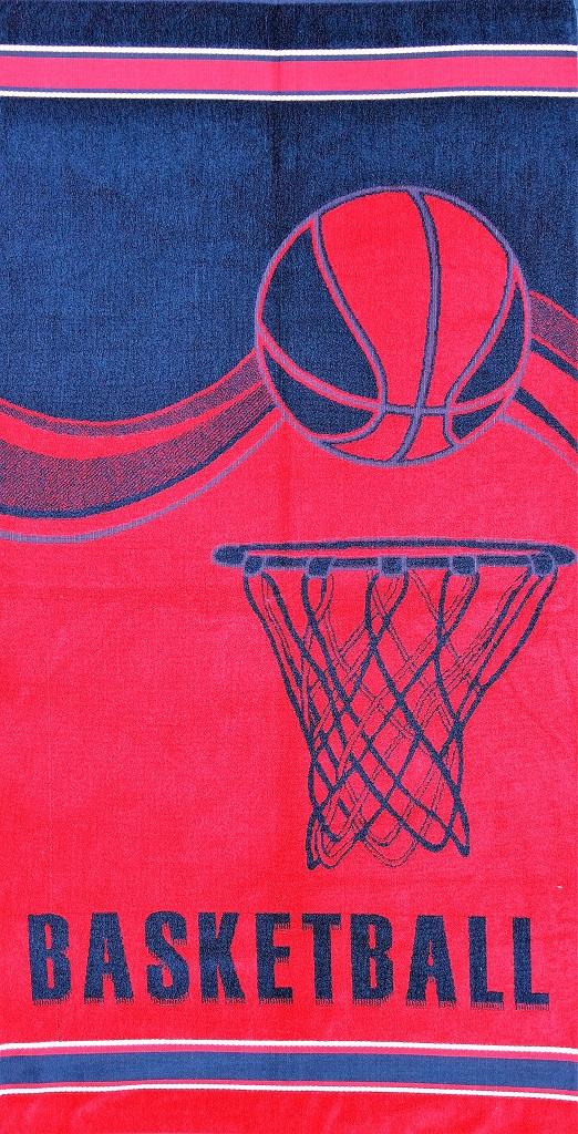 Полотенце махровое жаккардовое Спорт банноеПодарки на День рождения<br><br><br>Размер: Баскетбол