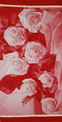 Полотенце махровое жаккардовое Розы банноеПодарки на День рождения<br><br><br>Размер: Букет 3D