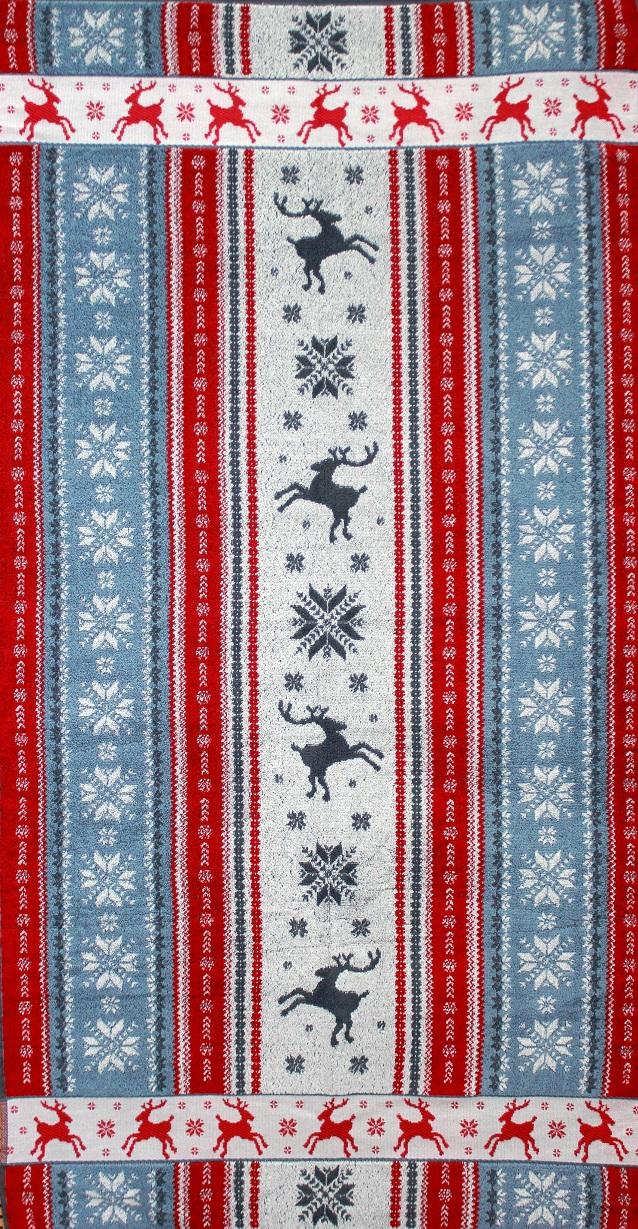 Полотенце махровое жаккардовое Аляска банноеПодарки на Новый год и Рождество<br><br><br>Размер: 70х140 см