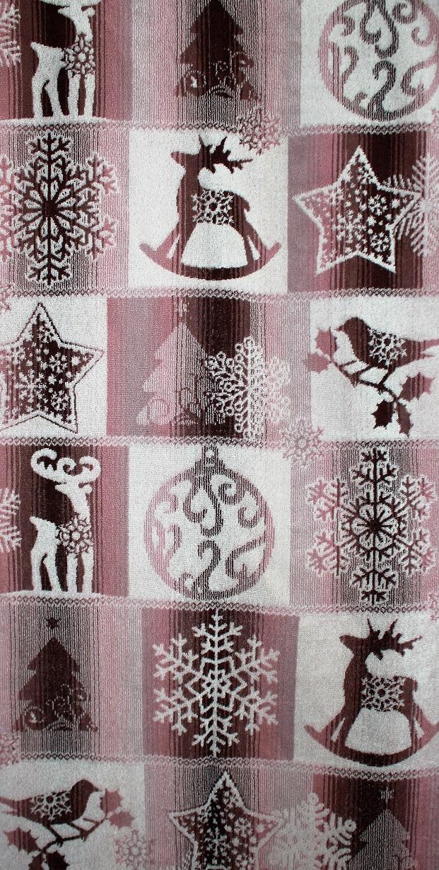 Полотенце махровое жаккардовое Новогоднее очарованее банноеПодарки на Новый год и Рождество<br><br><br>Размер: 70х140 см