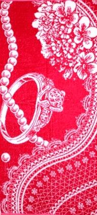 Полотенце махровое жаккардовое Жемчужная нитьДля всей семьи<br><br><br>Размер: Розы с жемчугом