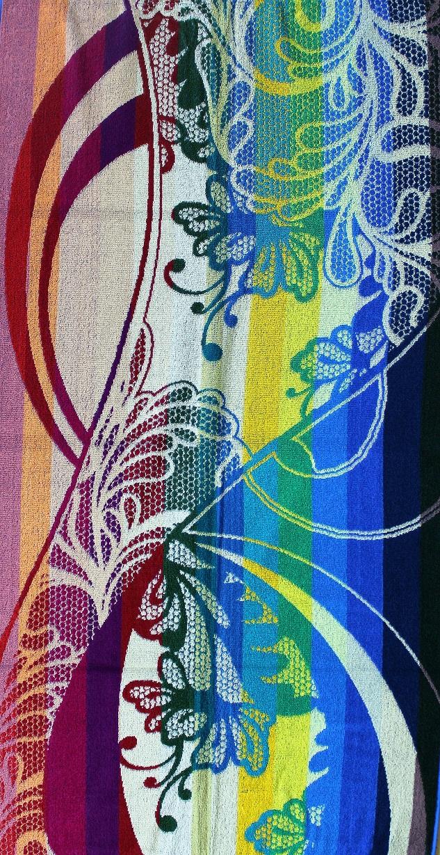 Полотенце махровое жаккардовое Краски лета банноеДля бани и сауны<br><br><br>Размер: 70х140 см