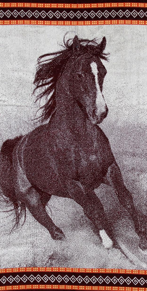 Полотенце махровое жаккардовое Лошадь банноеПодарки на День рождения<br><br><br>Размер: 70х140 см