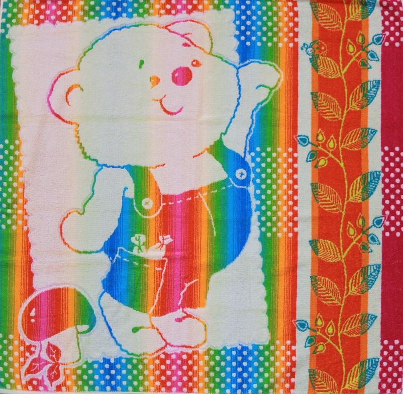 Полотенце махровое жаккардовое Дружок детскоеДетские изделия<br><br><br>Размер: Зайка
