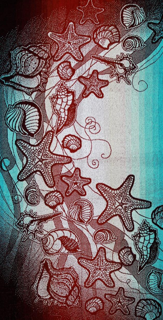 Полотенце махровое жаккардовое Морское вдохновение банноеДля бани и сауны<br><br><br>Размер: 70х140 см