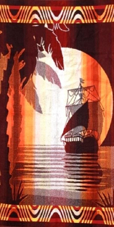 Полотенце махровое жаккардовое Шоколадное лето банноеПодарки на День рождения<br><br><br>Размер: 70х140 см