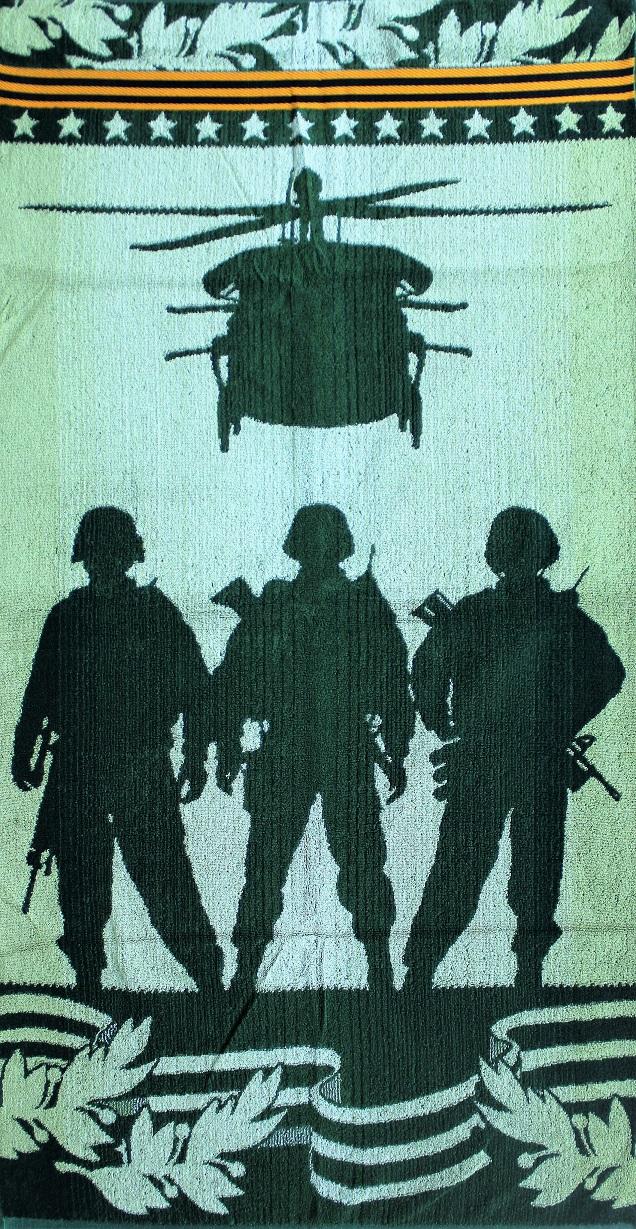 Полотенце махровое жаккардовое Солдаты банноеПодарки к 23 февраля<br><br><br>Размер: 70х140 см