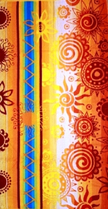Полотенце махровое жаккардовое Солнечный вальс банноеПодарки на День рождения<br><br><br>Размер: 70х140 см