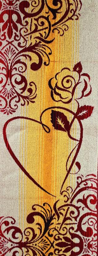 Полотенце махровое жаккардовое Роза с сердцемПодарки к 8 марта<br><br><br>Размер: 50х120 см