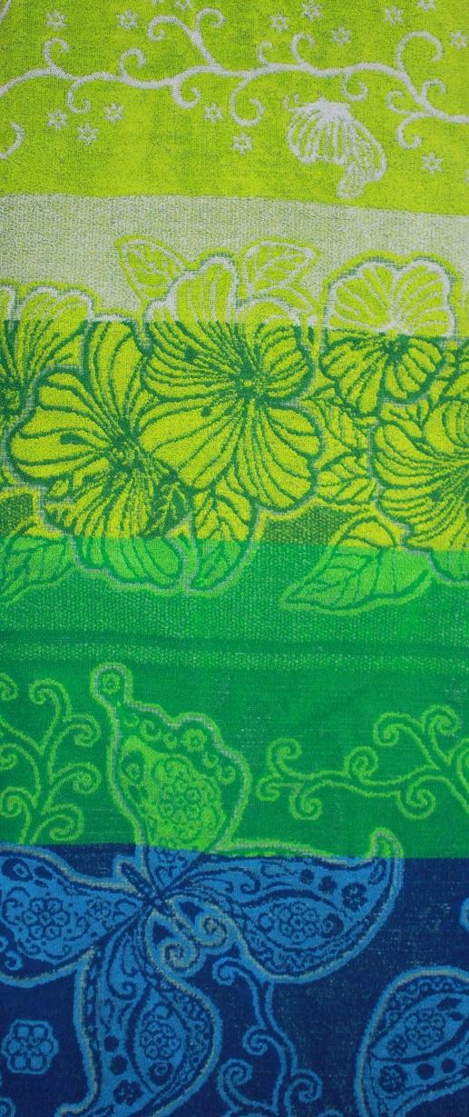 Простыня махровая жаккардовая Цветы и бабочкиПростыни<br><br><br>Размер: 160х215 см