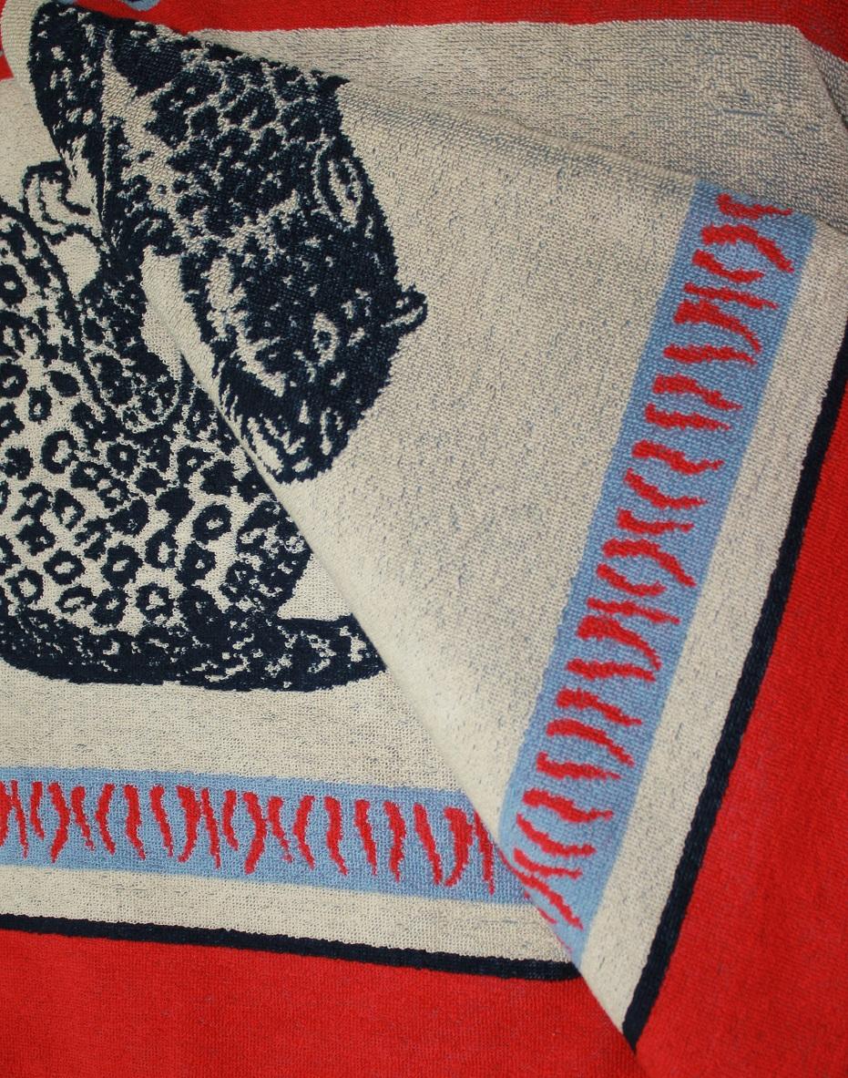 Простыня махровая жаккардовая ЛеопардыПростыни<br><br><br>Размер: 215х220 см