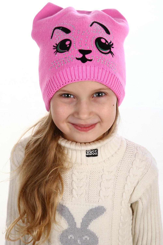 Шапка детская Милашка для девочкиКоллекция ОСЕНЬ-ЗИМА<br><br><br>Размер: Ярко-розовый