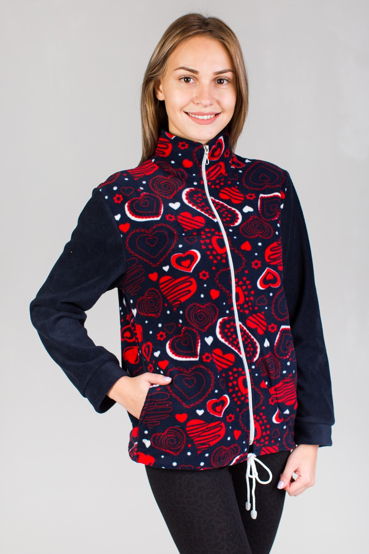 Толстовка женская Ирма-2 максиКоллекция ОСЕНЬ-ЗИМА<br><br><br>Размер: Тюльпаны