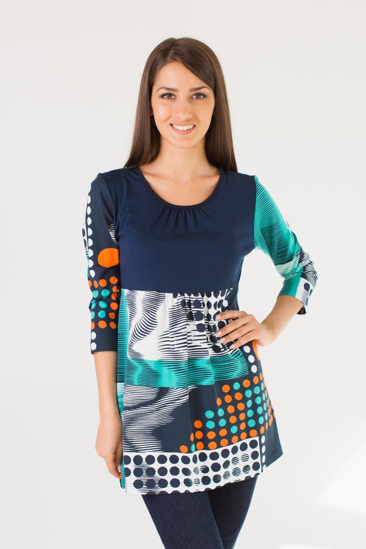 Туника женская Лаура с круглым вырезомКоллекция ОСЕНЬ-ЗИМА<br><br><br>Размер: 58