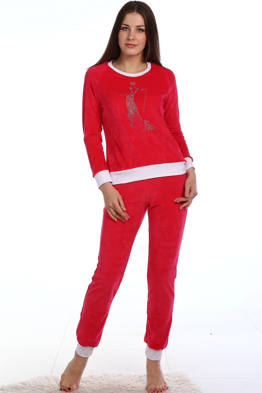 Костюм женский Сокровище кофта с длинным рукавом и брюкиКомплекты домашние теплые<br><br><br>Размер: Синий