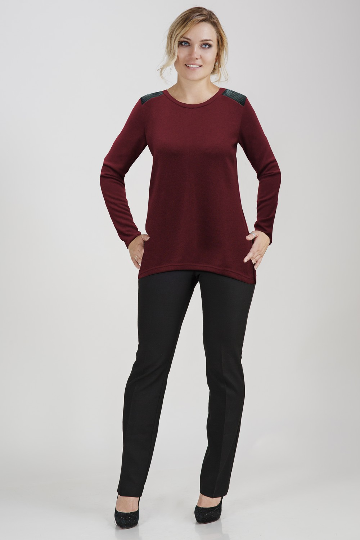 Блуза женская СамантаКоллекция ОСЕНЬ-ЗИМА<br><br><br>Размер: Черный
